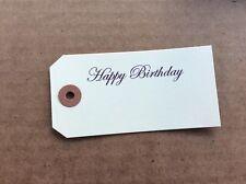 50, 4 1/4 X 2 1/8 Birthday Scrap Book Tags, Manila Birthday Gift Paper Label