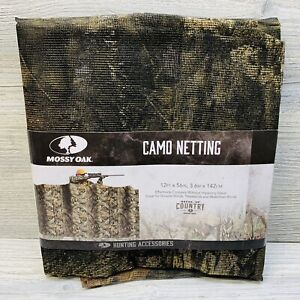 New Mossy Oak Camo Netting, 12ft x 56in Hunting Accessories Conceals Treestand