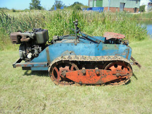 RANSOMES MG6, CRAWLER TRACTOR, 3 SPEED, TWIN CYLINDER DIESEL, ELECTRIC START,