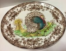 """🦃 Royal Staffordshire Clarice Cliff Large 19"""" Oval Turkey Platter Plate Tray🦃"""