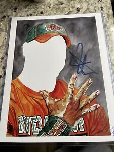 John Cena Signed 11x14 Rob Schamberger Art Print Poster WWE