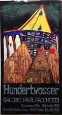AFFICHE ANCIENNE HUNDERTWASSER GALERIE PAUL FACCHETTI 1974/75