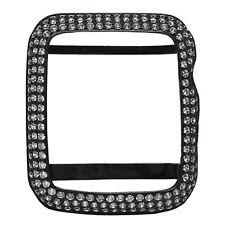 MENS APPLE SERIES # 1 BLACK ON STERLING SILVER WHITE LAB DIAMOND 42MM CUSTOM NEW