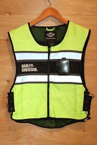 Harley Davidson Riders Safety Reflective Vest Size Large Hi-Vis NWOT
