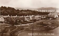 Greenock from above Lady Alice Park RP pc Valentines  A344