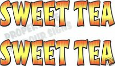 "Sweet Tea Decal (2) 18"" Concession Trailer Food Truck Restaurant Vinyl Letters"