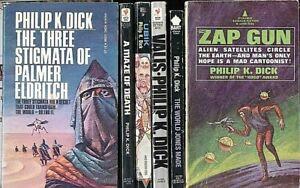 Philip Dick Lot (E) ~ Lot Of 6 ~ Maze of Death, Ubik, Zap Gun, Valis & 2 More