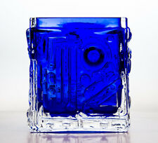 60s MIDCENTURY DANISH MODERN VINTAGE RETRO SCANDINAVIAN GEOMETRIC ART GLASS VASE