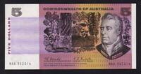 Australia R-202F. (1967) 5 Dollars - Coombs/Randall.. 1st Prefix NAA.. aU-UNC