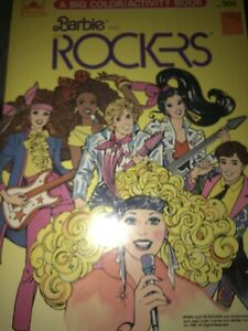 Vintage 1987 Barbie and the Rockers Coloring Book GOLDEN MATTEL Activity Book