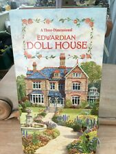 "A Three-Dimensional Edwardian Doll House book fold out 15"" tall carousel dolls"