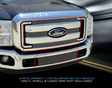 Billet Grille Grill Combo  For Ford F-250/F-350/F-450 XLT 2011-2016