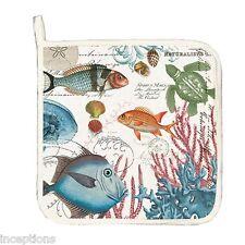 Michel Design Works Cotton Kitchen Potholder Sea Life - NEW