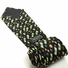 TIME IS MONEY IS TIME 58L Novelty Nicole Miller (c) 1997 Silk Mens Neck Tie