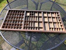 wooden letterpress printers tray