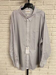 Gold Label mens non-iron dress shirt EZ wash neck 22 sleeve 34/35 NEW $75 #120
