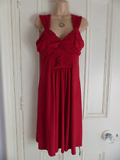 Star by Julien MacDonald red party dress UK 14 sleeveless fitted around bust