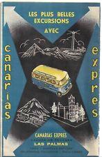 Ancien Feuillet Guide Touristique Iles Canaries Canarias Express Las Palmas