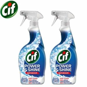 2 x Cif Power and Shine bathroom Spray-with lift action technology(700ml