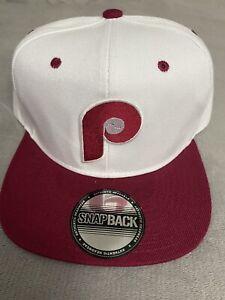 Philadelphia Phillies Vintage Throwback 70's Logo Snapback Baseball Cap Hat NEW