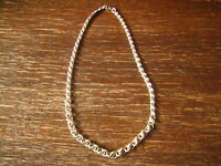 ausgefallene Jugendstil Collier Kette Kordelkette 800er Silber dekorative Ösen