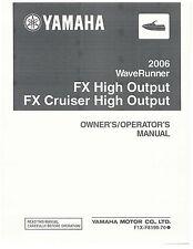 Yamaha Owners Manual Book 2006 WaveRunner FX High Output HO