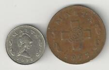 2 DIFFERENT COINS from MALTA - 1 & 2 CENTS (BOTH DATING 1977)