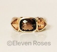 David Yurman Mosaic Renaissance Three Stone Ring 925 Sterling & 750 18k Gold