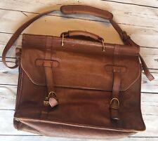 Hidesign Vintage Leather Travel Carry on Laptop Briefcase Bag Brown