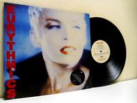 THE EURYTHMICS be yourself tonight LP EX/EX- PL 70711, with lyric insert, vinyl