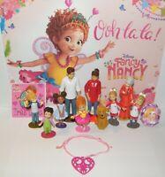 Disney Fancy Nancy Figure Set with 10 Fun Figures, Princess Ring, Heart Bracelet