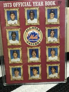 1973 New York Mets Official Year Book. Willie Mays Last Year