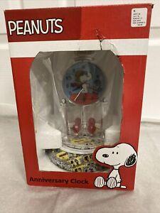 Peanuts Snoopy Anniversary Clock Rare New In Box Collectible
