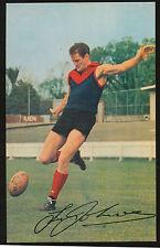 1965 Mobil card No 24 Tassie Johnson Melbourne near MINT Demons Footy Photos