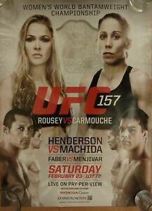 UFC 157: Rousey vs Carmouche, PPV Promo Poster, Faber, Machida, Near Mint