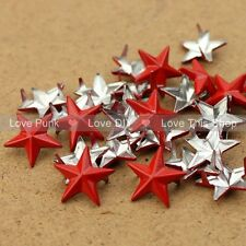 100pcs 15mm Red Star DIY  Rivet Punk Bag Belt Leathercraft Bracelets Clothes