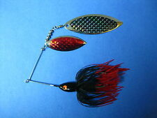3/4 oz Spinnerbait ( Black/ with Red Tips ) T34oz-204