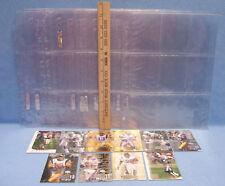 Plastic Pocket Sleeves & Trading Cards Upper Deck Football Lot of 22