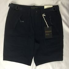 Abercrombie & Fitch Paratroop Cargo Stretch Shorts Navy Blue $58 Size 33