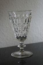 Vintage JEANNETTE Thumbprint Depression Glass Water Goblets (6)
