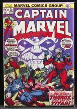 "Captain Marvel #28 Comic Book 2"" X 3"" Fridge Magnet. Thanos Captain America"
