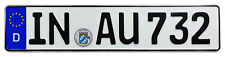Audi Ingolstadt Front German License Plate AU by Z Plates with Unique Number NEW