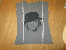 Tee-shirt Gris avec motif,MC,T12ans,marque Bilook,en TBE