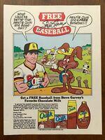 1985 Steve Garvey Nestle Quik Vintage Print Ad/Poster 80s Retro Pop Art Décor