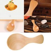 8cm Small Mini Wooden Spoon Scoop Honey Coffee Condiment Salt Sugar Spoon H L9M9