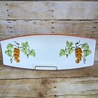 "Stangl Golden Grape Bread Tray Serving Platter 15"" Vintage 1960s"