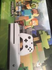 Xbox One S Console Minecraft Bundle Microsoft White Favorites 500gb New Sealed