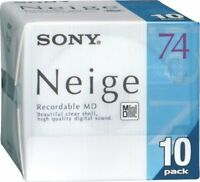 Sony 10MDW74NED Neige Series 74min Blank MD Mini Disc 10 disc packshipping