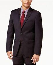 Calvin Klein Men's Slim-Fit Burgundy Textured Suit Jacket 40L Wine