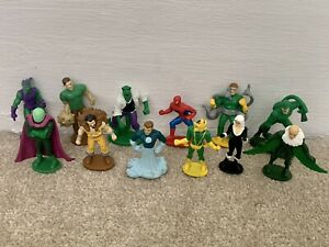 12 x Marvel Spiderman Figures/toys Bundle/job Lot Busy Book - Cake Toppers?